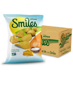 SMILES - CHEDDAR & SOUR CREAM 27GmX40Pcs